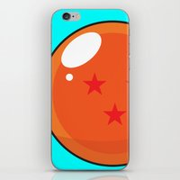 dragonball z iPhone & iPod Skins featuring Sacred Dragonball by Hussein Ibrahim