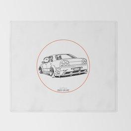 Crazy Car Art 0215 Throw Blanket