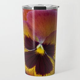 Pansy Painted Travel Mug