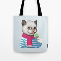 ice cream Tote Bags featuring Ice cream by Tummeow