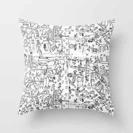 Dogland by Drü and James Throw Pillow
