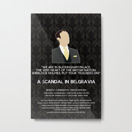 A Scandal in Belgravia - Mycroft Holmes Metal Print