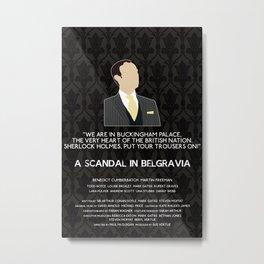 A Scandal in Belgravia - Mycroft Holmes Metal Print