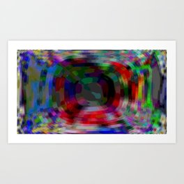 punch multicolor Art Print