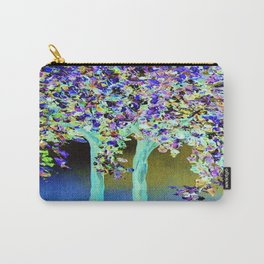 In a Blue and Purple World Carry-All Pouch