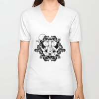 ganesh V-neck T-shirts featuring GANESH by Vee Ladwa
