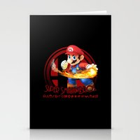 smash bros Stationery Cards featuring Mario - Super Smash Bros. by Donkey Inferno