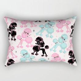 Poodlerama Retro Poodles Rectangular Pillow