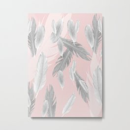 Feather Dream Pattern #1 #boho #decor #art #society6 Metal Print