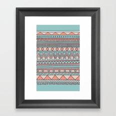 Tribal #4 (Coral/Aqua) Framed Art Print
