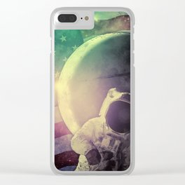 Adventure In Space Clear iPhone Case