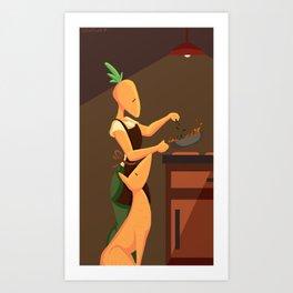 Carrot Chef Art Print