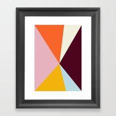 Multicolor Triangles Framed Art Print