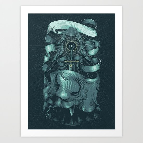 Hooded Eclipse Art Print