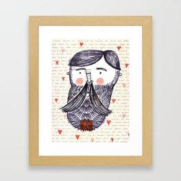 Bearded Lumberjack Man Framed Art Print