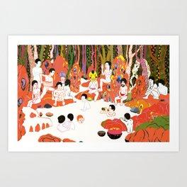 Bathhouse Mao Art Print