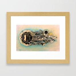 Comète monde Framed Art Print