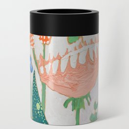 Proteas and Birds of Paradise Painting Can Cooler