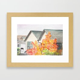 North Seattle Apartment View Framed Art Print