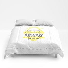 Yellow Polka Dot Bikini Comforters