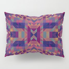 grace - intricate symmetrical geometric pattern vivid jewel tones Pillow Sham