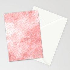 Rose quartz chevron pattern with grunge texture Stationery Cards