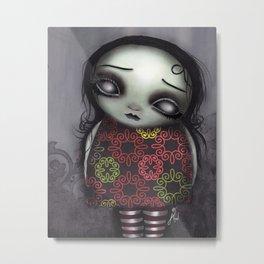 Zombie Girl Metal Print