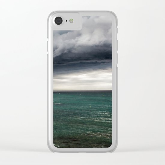 clouds and sea Clear iPhone Case