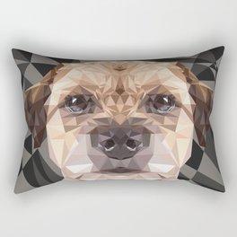 Low Poly Border Terrier Rectangular Pillow