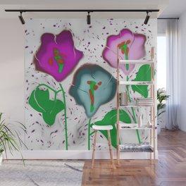 Glass Fused Flowers Digital Wall Mural