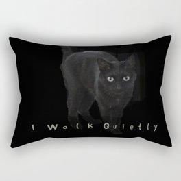 I Walk Quietly Rectangular Pillow