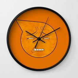soul eater symbol- excalibur face Wall Clock