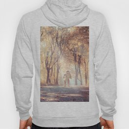 Astronaut In Autumn Forest Hoody