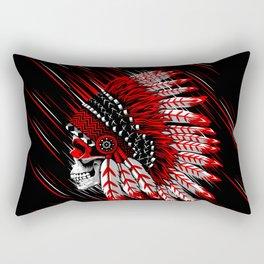 Skull Indian Rectangular Pillow