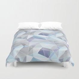 Broken glass in blue. Duvet Cover