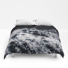 OCEAN - WAVES - SEA - ROCKS - DARK - WATER Comforters