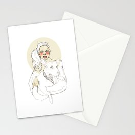 She loves dogs Stationery Cards