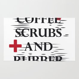 Coffee Gloves Nurse Life Funny Gifts Rug