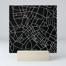 London Road Blocks Black Mini Art Print