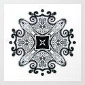 Black and White Mandala by linzykokoska