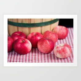 Organic Apples 3 Art Print