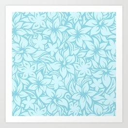 Moloaa Bay Hawaiian Hibiscus Aloha Shirt Print Art Print