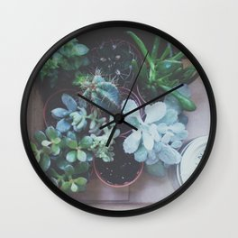 Plantlets Wall Clock
