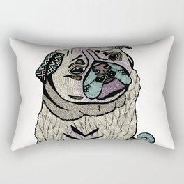 Ares The Pug Rectangular Pillow