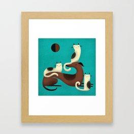 GREYHOUND PERCH Framed Art Print