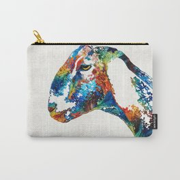 Colorful Goat Art By Sharon Cummings Carry-All Pouch