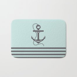 AFE Pale Turquoise and Brown Achor Bath Mat