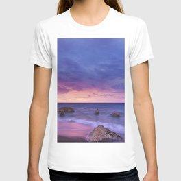 Ocean Beach Dusk Sunset Photography T-shirt
