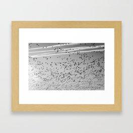 The Birds (Black and White) Framed Art Print