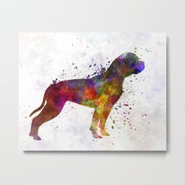 American Bulldog 01 in watercolor Metal Print